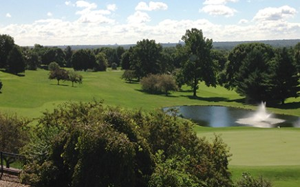 A beautiful day for golf at the Hyperion Field Club. Shown here is hole No. 9.