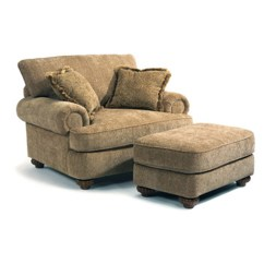 Broyhill Sectional Sofa Reviews Dog Extra Large Flexsteel 7321-10-08 Patterson Chair And Ottoman Discount ...