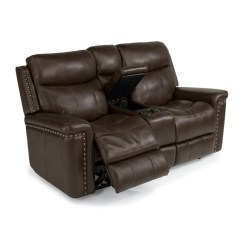 Flexsteel Leather Sofa Reviews Set For Small Living Room 1339-604p Grover Power Reclining ...