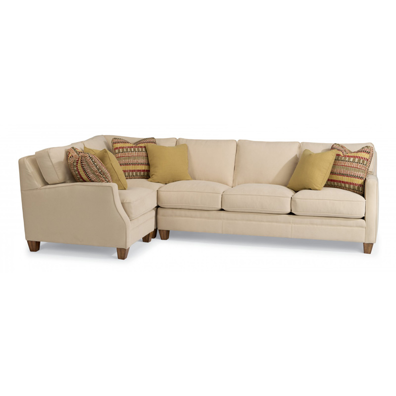 flexsteel sectional sofas reviews sofa palermo bizzarto cena 7564-sect lennox fabric discount ...