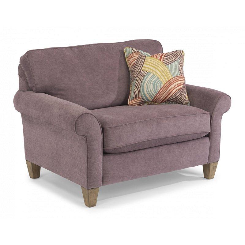 Flexsteel 5979101 Westside Fabric Chair and a Half