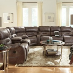 Wesley Hall Sofas Porter Malibu Chocolate Brown Sectional Sofa With Ottoman Southern Motion Furniture At Hickory Park Galleries