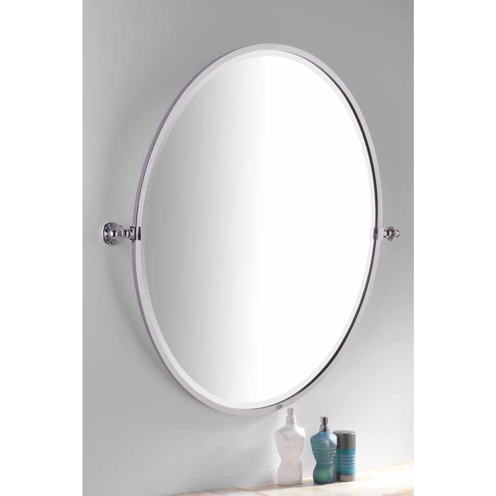 Handmade Bathroom Oval Framed Tilting Mirror