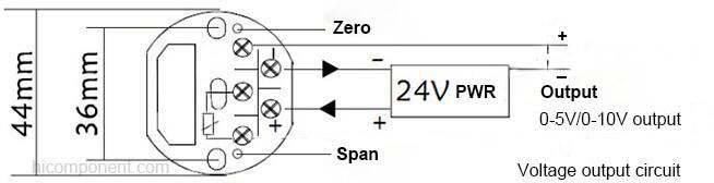 Head-mounted PT1000 PT100 to current voltage temperature