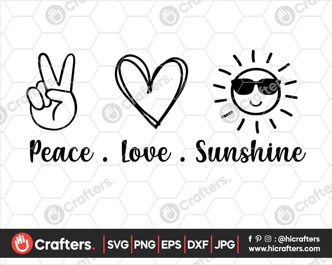 Download Peace Love Sunshine SVG, Summer SVG PNG | Hi Crafters