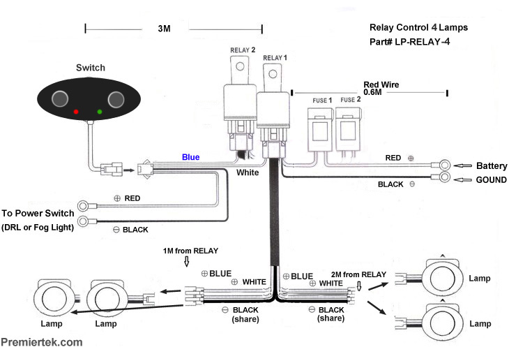 Off Road Lights Wiring Diagram Two on