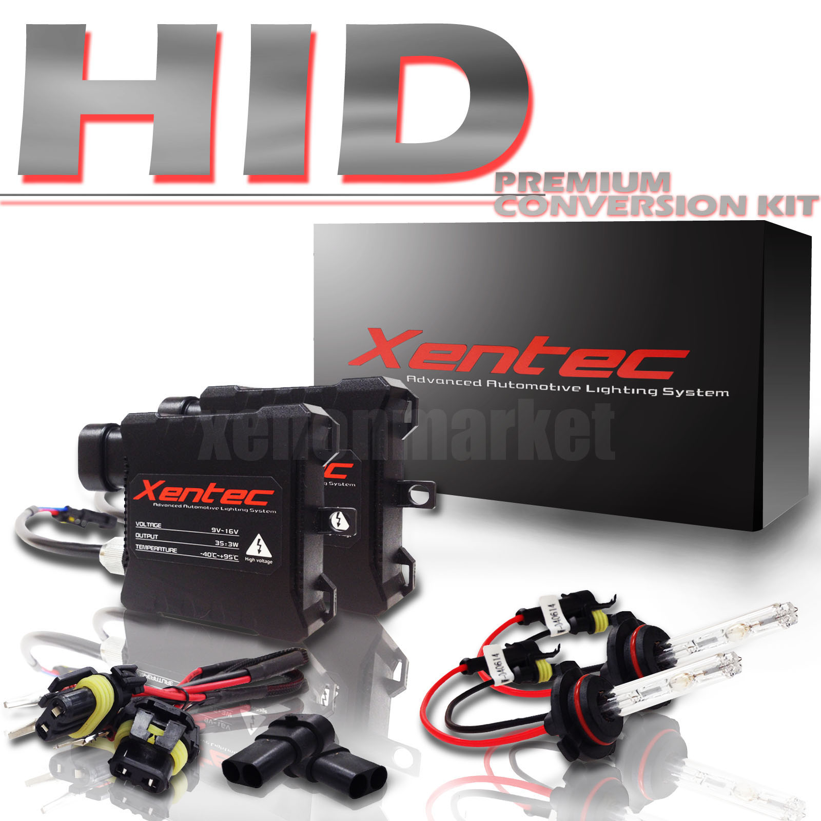 hight resolution of details about hid kit 9006 10000k deep blue low beam 10k headlight conversion kit hb4 xentec