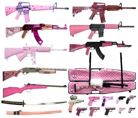pink assault rifles