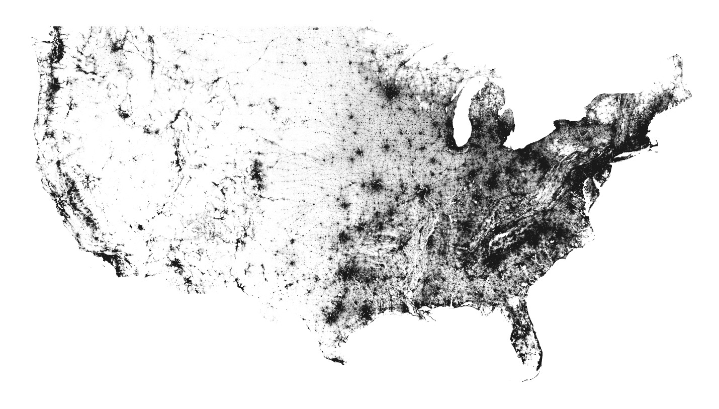 racial dot map color coded removed