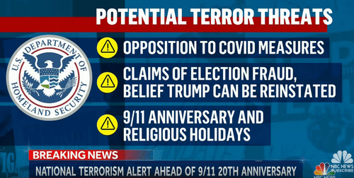DHS potential terror threats news report
