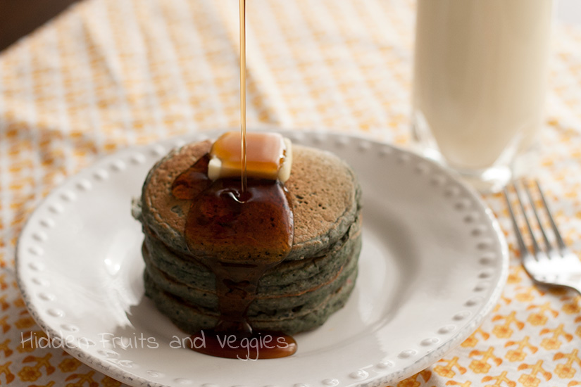 Berry and Spinach Pancakes