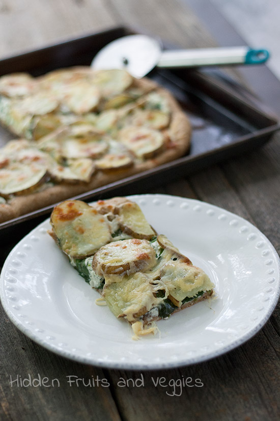 Potato Pizza with Dill Cream Cheese