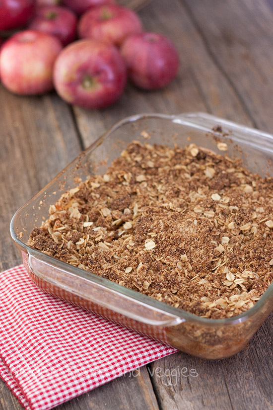 Vegan Apple Crisp @hiddenfruitnveg