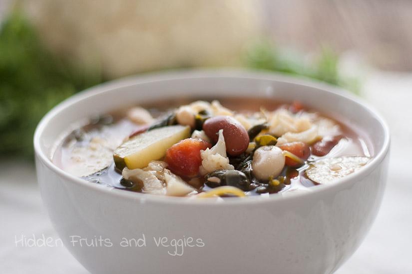 Loaded Veggie Soup @hiddenfruitnveg