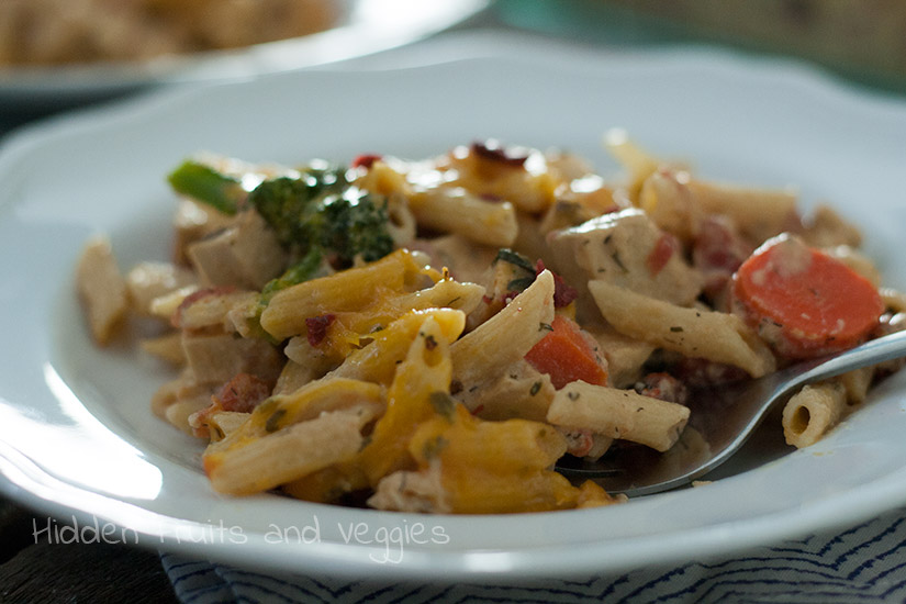 "Cheesy ""Chicken"" Ranch Casserole @hiddenfruitnveg"