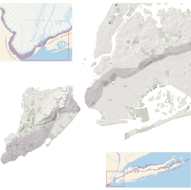 Map Of New York City And Long Island.New York Hidden Hydrology