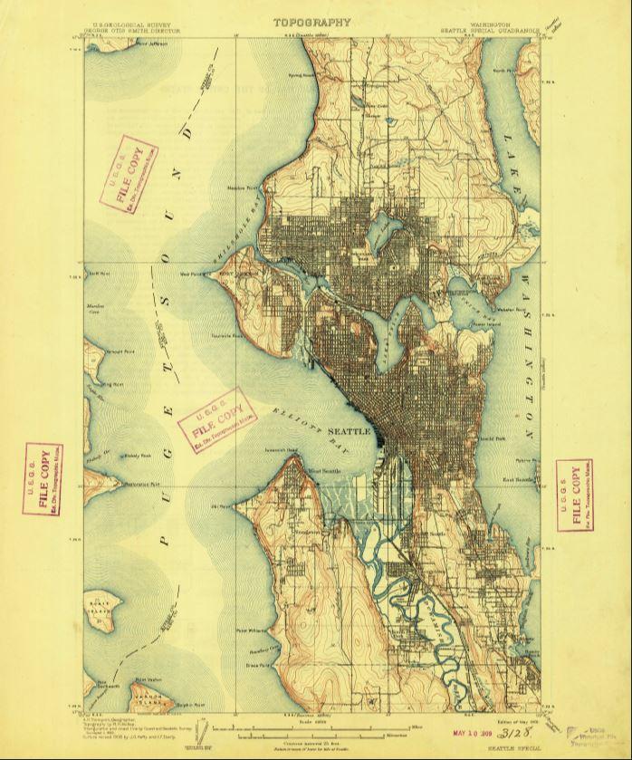 Us Map Seattle.Map Catalog Hidden Hydrology