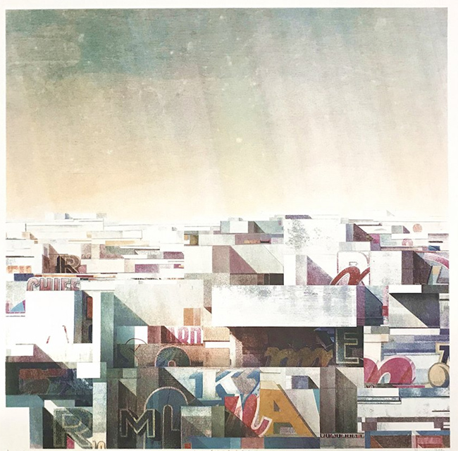 """Rooftop No6""""new print by CHAZME width="""