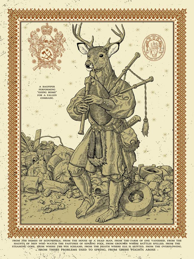 """From The Overflowing: Bagpiper"" by Ravi Zupa"