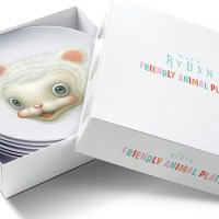 Friendly animals plates by Mark Ryden