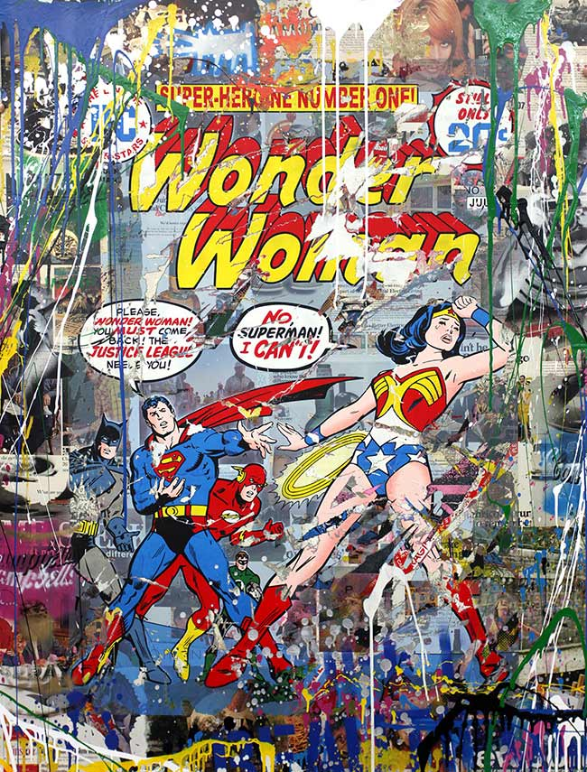 """Justice League"" new print by Mr. Brainwash"