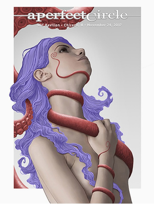 A Perfect Circle gig posters by Ron Ransom
