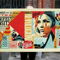"""Damaged Wrong Path Mural"" large print by Shepard Fairey"