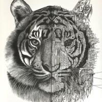 """Tiger Mechanimal"" print by ARDIF"
