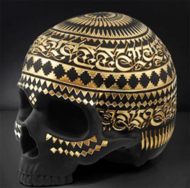 """Memento Mori"" Skull print release by Cryptik"