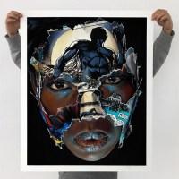 """""""LA CAGE; CES YEUX PLEINS DE LUMIÈRE"""" print by Sandra Chevrier"""