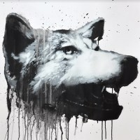 """CANIS LUPUS NO. 3""  original  by  JUSSI TWOSEVEN"
