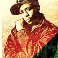 """Chuck D Black Steel""  Screen Print by Shepard Fairey"