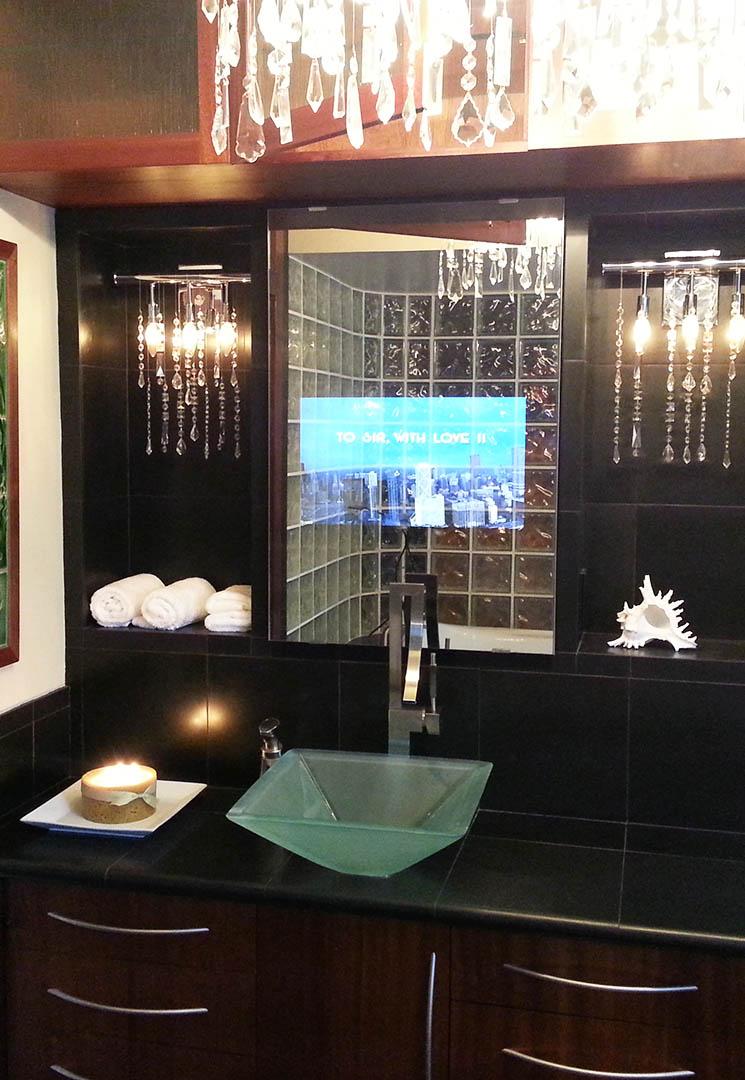 Vanity Mirror TV  Vanishing Television For Your Bathroom