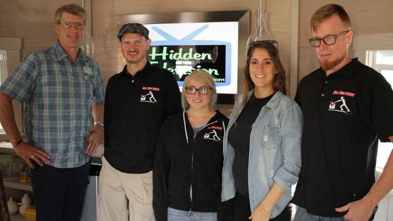 Hidden Television Treehouse Masters Surprise