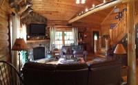 log-home-living-room | Hidden Valley Log Homes