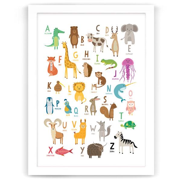 alphabet animal friends