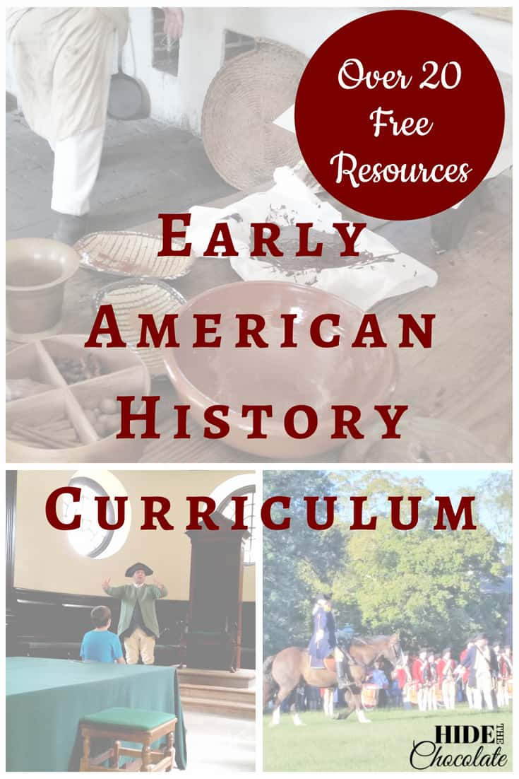 Early American History Curriculum - Over 20 Free Resources \u0026 Printables [ 1102 x 735 Pixel ]