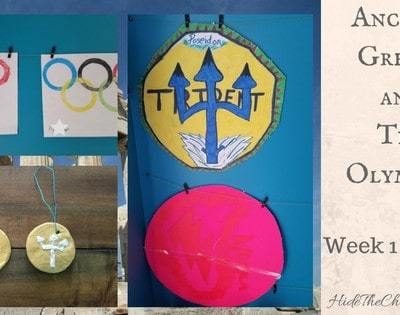 Ancient Greece and The Olympics Unit Study: Week 1 in Review