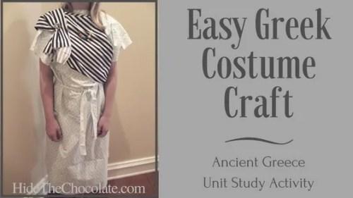 Easy Greek Costume Craft