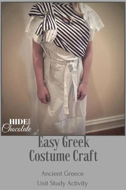 Easy Greek Costume Craft PIN