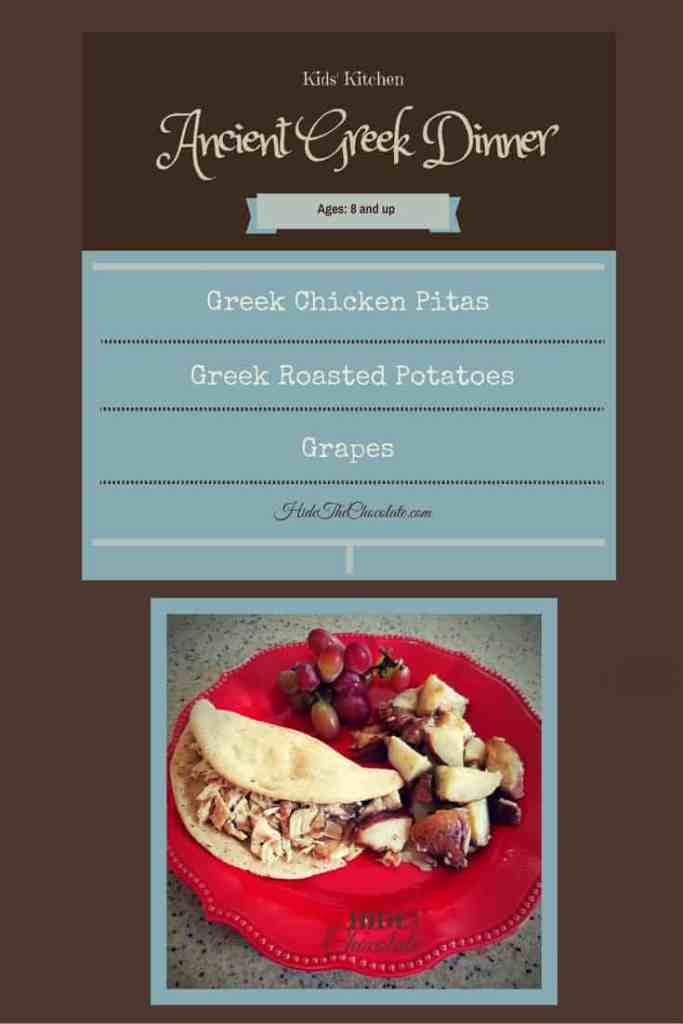 Kid Kitchen- ancient Greek dinner