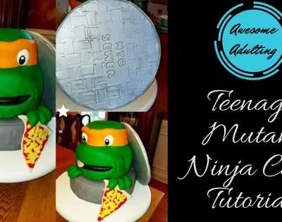 Awesome Adulting: Teenage Mutant Ninja Turtle Cake Tutorial