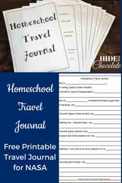 Homeschool Travel Journal Printable - NASA