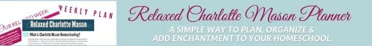 Relaxed Charlotte Mason Homeschool Planner Banner