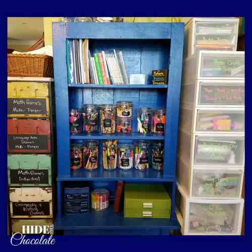 Homeschool Room- Bookshelf