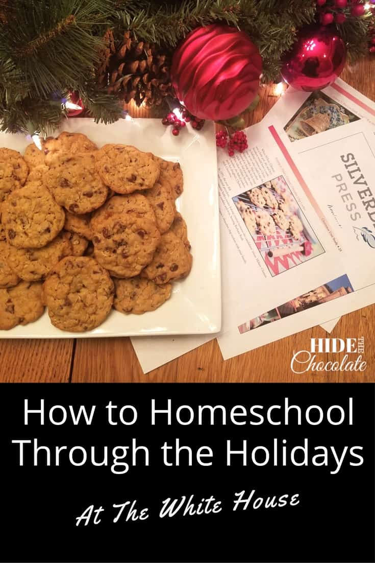 Studying history is always better when it involves Christmas trees, ornaments and chocolate chip cookies. So, we decided to virtually homeschool through the holidays at the White House... with chocolate!