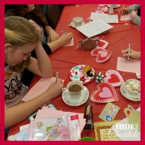 Valentine Poetry Teatime Writing