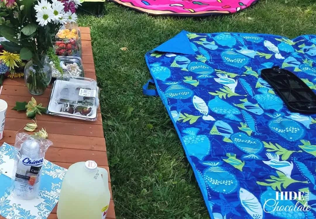 Fletcher and the Springtime Blossoms picnic