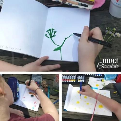 Fletcher and the Springtime Blossoms sketching