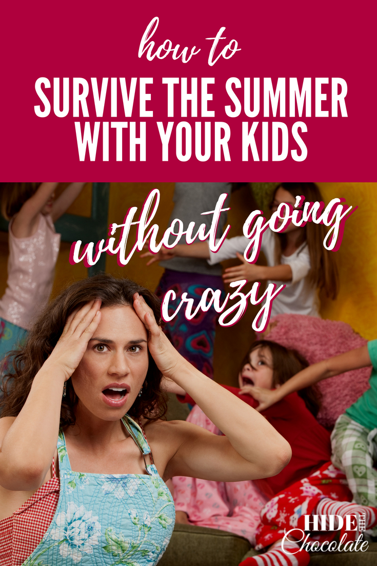 How to survive the summer with your kids without going crazy ~ I'm negotiating another remote-control hostage situation and using my not-so-inside-voice to threaten the next person who leaves their dirty dishes/clothes/half-eaten sandwich on the living room couch. I need a way to survive the summer without going crazy! #homeschool #summer #homeschooling